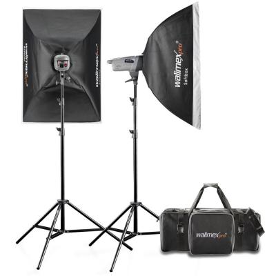Walimex photo studio equipment set: VE Excellence-400, 2.4GHz, 400Ws, 1/1 - 1/32 - Zwart