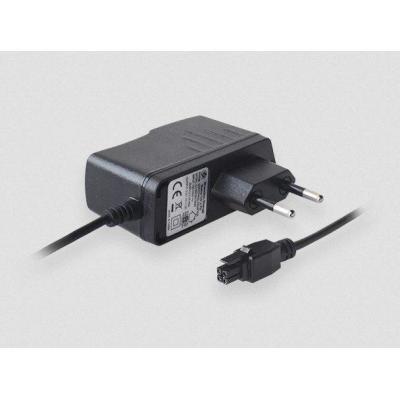 Teltonika EU power supply, 9W, 4 pin, 100-240 VAC, 50/60 Hz, 0.4 A, 9 VDC Netvoeding - Zwart
