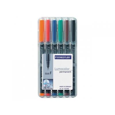 Lumocolor markeerstift: OHP/CD/DVDmarker Lc318 F ass/etui 6