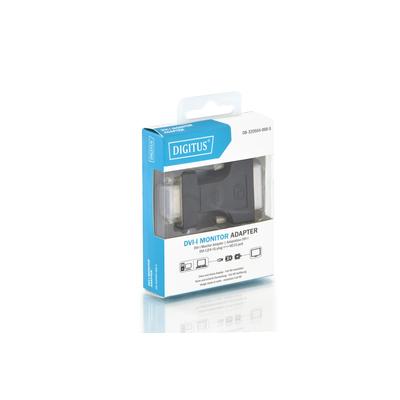 Digitus 2560 x 1600, DVI-I/HD DSUB 15-pin Kabel adapter - Zwart