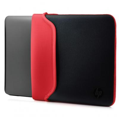 "Hp laptoptas: 14"" Neoprene Sleeve Black/Red - Zwart, Rood"