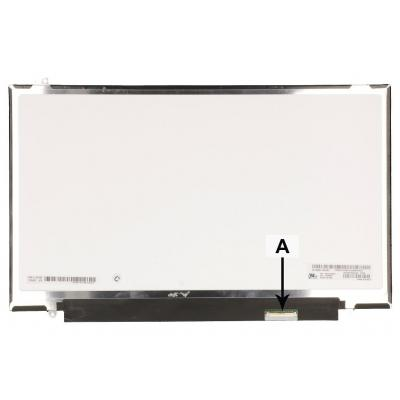 """2-power notebook reserve-onderdeel: 35.56 cm (14 """") , LCD, 2560 x 1440, QHD, Glossy - Zwart, Grijs"""