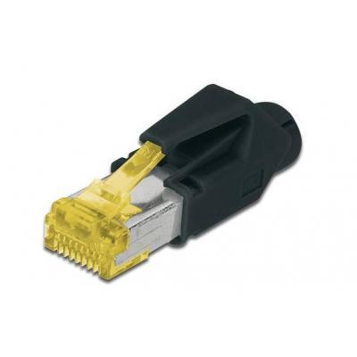 Hirose kabel connector: CAT6a TM31  - Zwart, Geel
