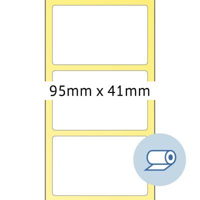 Herma etiket: Rol etiketten thermotransfer 95x41mm wit licht glanzend 2000 St.