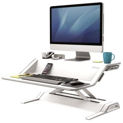 Fellowes : Lotus Sit-Stand Workstation - White - Wit