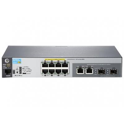 Hewlett Packard Enterprise Aruba 2530-8-PoE+ Switch - Grijs