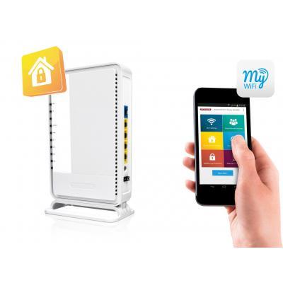 Sitecom : WLR-4100 N300 Wi-Fi Gigabit Router X4 - Wit