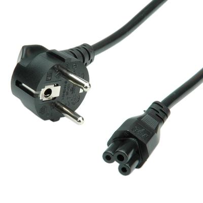 Value stroomkabel, 3pol. notebook-Female 1,8m Electriciteitssnoer - Zwart