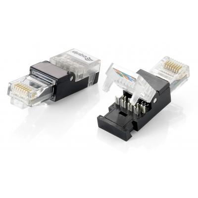 Equip Tool-free RJ45 Plug, Cat.5e Kabel connector - Zwart, Transparant