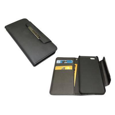 Sandberg Flip wallet iPhone 6 Blackskin Mobile phone case - Zwart