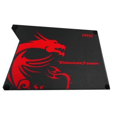 MSI THUNDERSTORM Mouse Pad Muismat - Zwart, Rood