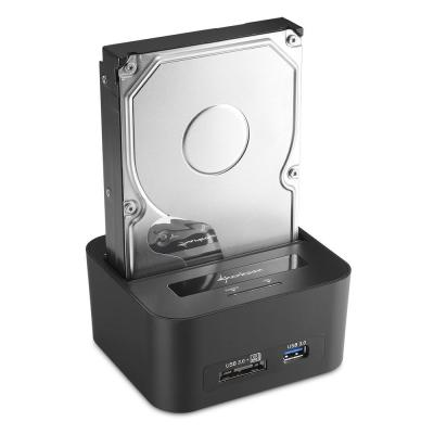 Sharkoon HDD/SSD docking station: QuickPort XT HC - Zwart