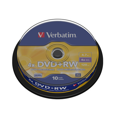 Verbatim DVD+RW Matt Silver DVD