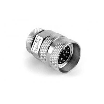 Amphenol elektrische standaardconnector: M23a Straight Plug, 17 Position, Type: 17E - Zilver