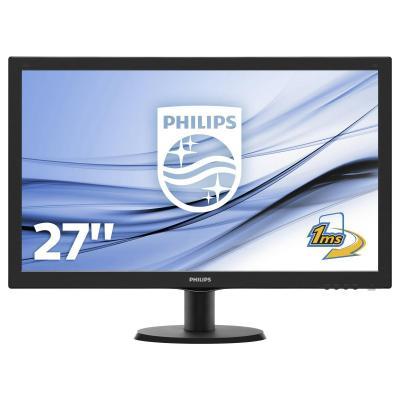 Philips monitor: LCD-monitor met SmartControl Lite 273V5LHAB/00 - Zwart
