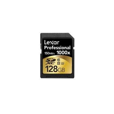 Lexar flashgeheugen: 128GB SDXC UHS-2 - Zwart