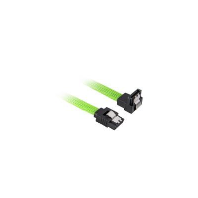 Sharkoon SATA 3 ATA kabel - Zwart, Groen