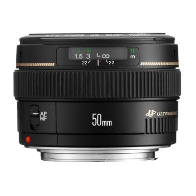 Canon camera lens: EF 50mm f/1.4 USM - Zwart