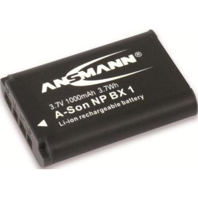 Ansmann 3.7V, 1000mAh, black - Zwart