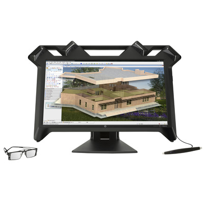 Hp monitor: Zvr - Zwart (Demo model)