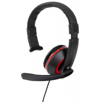 Gioteck game assecoire: Gioteck, XH-50 Wired Mono Headset (Black / Red) (PC / MAC / PS4 / Xbox One)