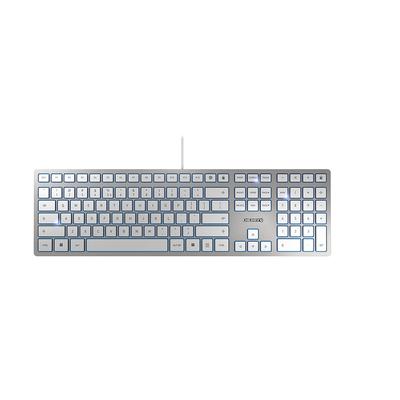 CHERRY KC 6000 Slim Toetsenbord - Zilver,Wit