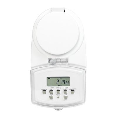 LogiLink IP44, 230V, 50Hz, 1.8 kW, 68x83x129mm, 167g, White Elektrische timer - Wit