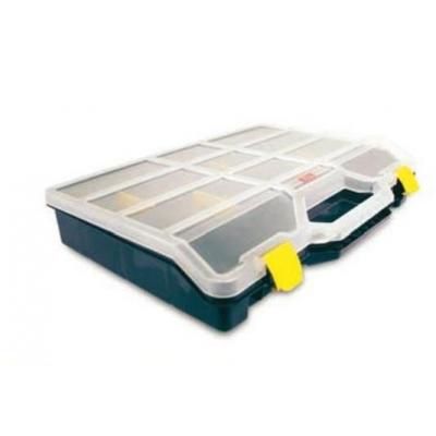 Tayg : Box w/ Mobile Dividers, Base Blue, Cover Transparent, Dividers Yellow - Blauw, Transparant, Geel