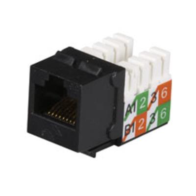Black Box GigaBase2 CAT5e Jacks - Zwart