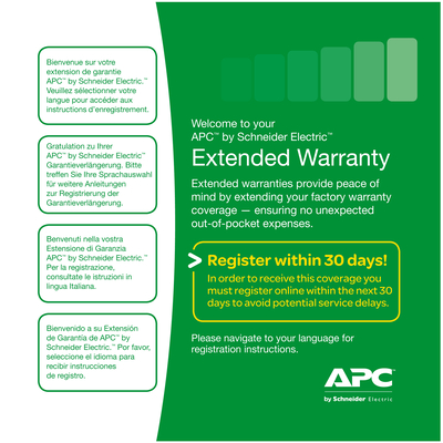 APC Service Pack-05: +3 jaar upgrade Garantie