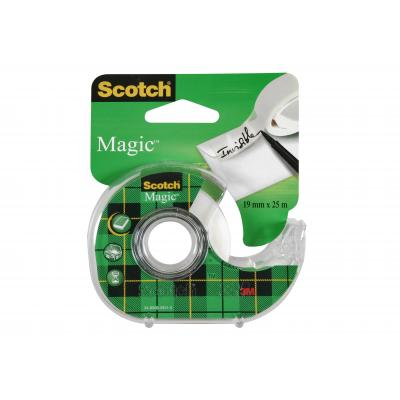 Scotch Magic Tape - Navulbare Dispenser - 19 mm x 25 m tape afroller - Groen, Wit