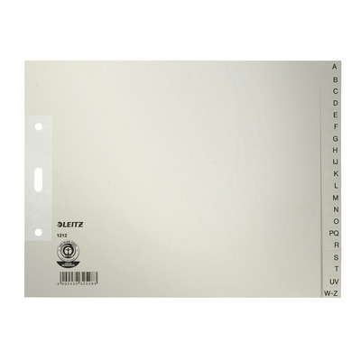 Leitz indextab: Index, papier, 180 mm hoogte extra breed