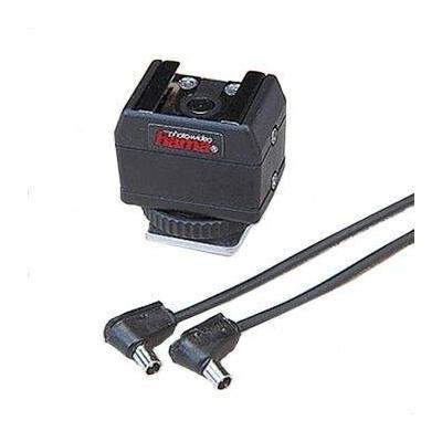 "Hama camera kit: Hot shoe adapter ""Universal"" + sync cable - Zwart"