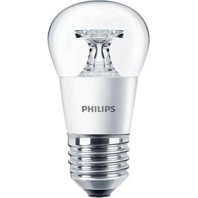 Philips led lamp: CorePro LED ND 4-25W E27 827 P45 CL - Grijs, Metallic, Transparant
