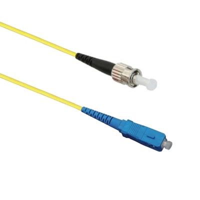 EECONN Glasvezel Patchkabel, 9/125 (OS1), SC - ST, Simplex, 0.5m Fiber optic kabel - Geel
