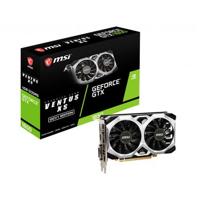 MSI GeForce GTX 1650 D6 VENTUS XS OCV1 Videokaart - Zwart, Zilver