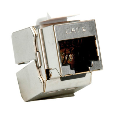 ROLINE Cat.6/Class E Keystone, RJ-45, afgeschermd, zilverkleurig Patch panel