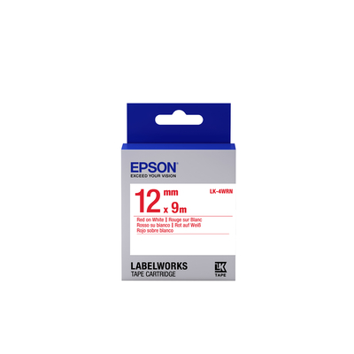 Epson Standard Tape - LK-4WRN Std Red/Wht 12/9 Labelprinter tape