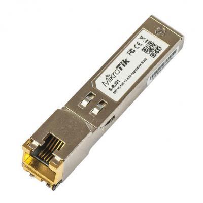 Mikrotik netwerk switch module: RJ45, SFP, 10/100/1000M, copper module
