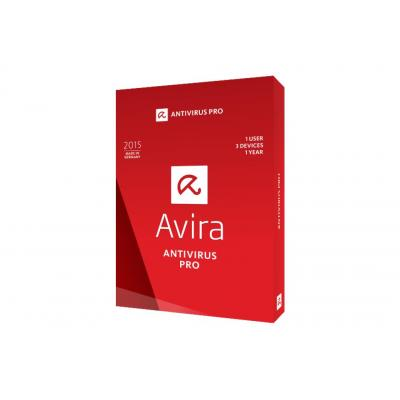Avira Antivirus Pro 2015, 1U, 1Y Software