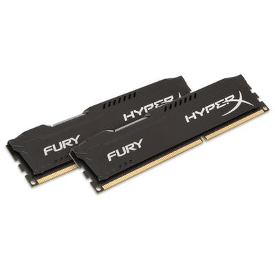 HyperX FURY Black 16GB 1600MHz DDR3 RAM-geheugen - Zwart