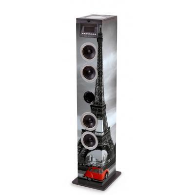 Bigben interactive home stereo set: vloerstaande luidspreker met Eiffeltoren - Multi kleuren