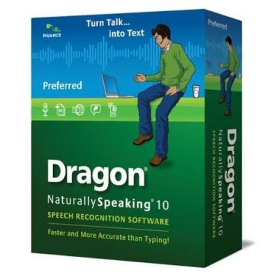 Nuance stemherkenningssofware: Dragon NaturallySpeaking Dragon NaturallySpeaking 10 Preferred