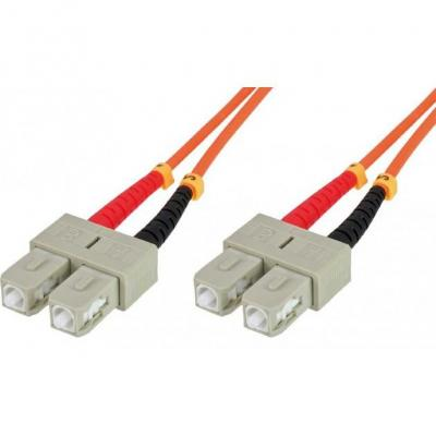 Intellinet fiber optic kabel: Diametri fibra - Core: 50 micron; Rivestimenti: 125 micron tipo di fibra - Multimodale .....