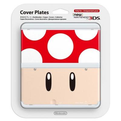 Nintendo portable game console case: New 3DS Cover 007 - Rood, Wit