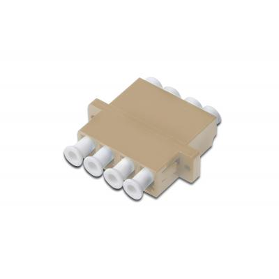 Digitus fiber optic adapter: LC / LC Quad Coupler (4-port), Multimode - Beige