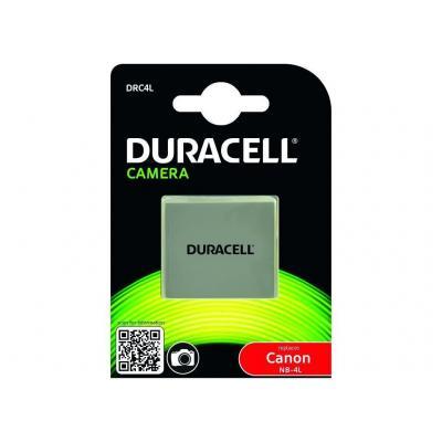 Duracell batterij: Camera Battery - replaces Canon NB-4L Battery - Grijs