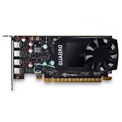 Dell videokaart: NVIDIA Quadro P600 2 GB GDDR5, 4 x mini Display Port - Zwart