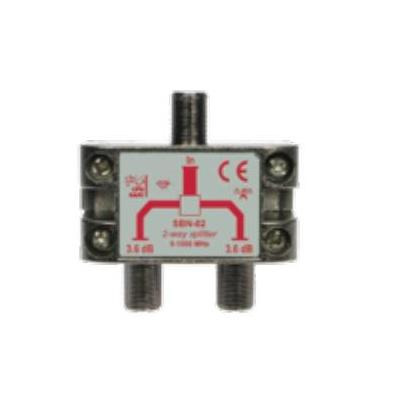 Hirschmann coaxconnector: 2-wegsplitter F-connectoren
