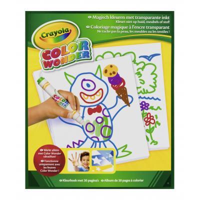 Crayola kleurplaat en boek: Color Wonder - Tekenblok neutraal 30blz.